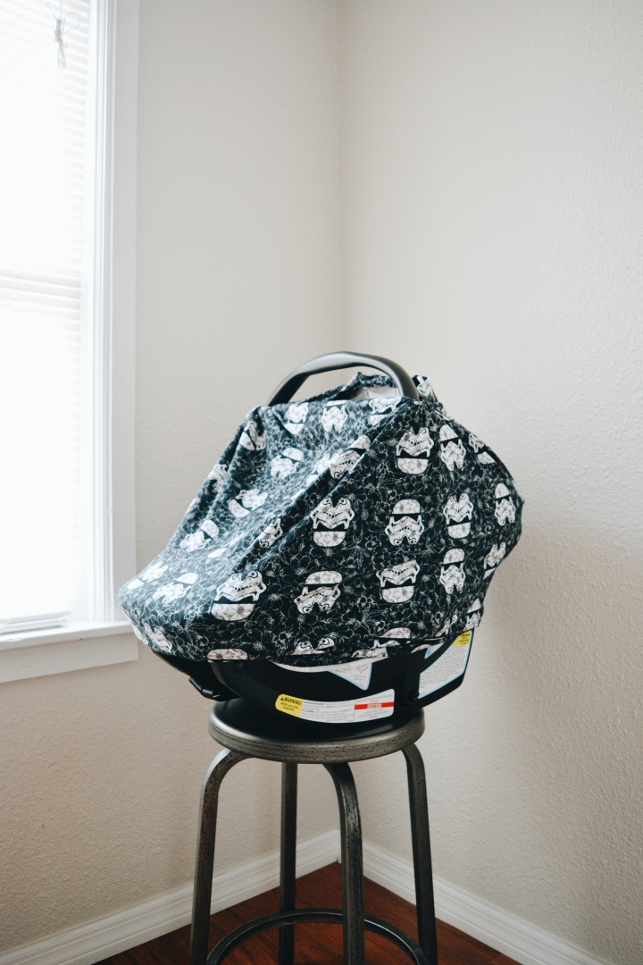 DIY Carseat Cover (Star Wars Themed)