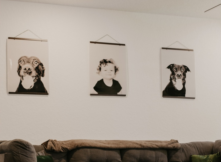 Easy and Affordable DIY Hanging Portraits
